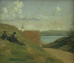 A Sunken Road near Frederiksværk | Johan Thomas Lundbye | Oil Painting