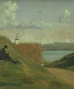 A Sunken Road near Frederiksværk   Johan Thomas Lundbye   Oil Painting