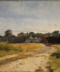 A Croft at Lodskov near Vognserup Manor (study) | Johan Thomas Lundbye | Oil Painting