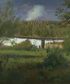 Farm Buildings in the Sun | Johan Thomas Lundbye | Oil Painting