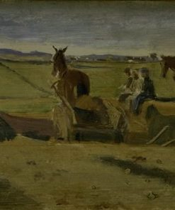 Ploughing the Land (study) | Johan Thomas Lundbye | Oil Painting