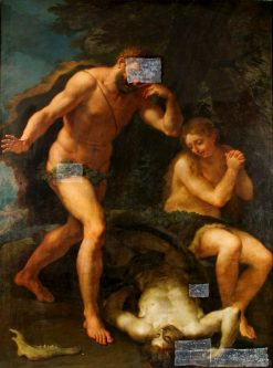 Adam and Eve Lamenting over the Body of Abel | Luca Giordano | Oil Painting