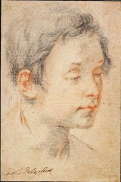 Head of a young man turned to the right | Matteo Rosselli | Oil Painting