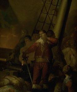 "Christian IV Aboard his Flagship ""The Trinity"" | Nicolai Abraham Abildgaard | Oil Painting"