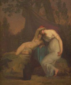 The Greek Poet Sappho and the Girl from Mytilene | Nicolai Abraham Abildgaard | Oil Painting