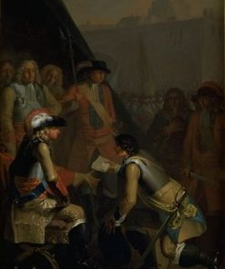 Magnus Stenbock Surrenders the Fortress of Tønningen to Frederik IV in 1714 | Nicolai Abraham Abildgaard | Oil Painting