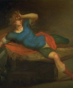 Richard III Defeated at Bosworth | Nicolai Abraham Abildgaard | Oil Painting