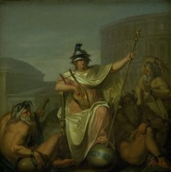 Rome as Ruler of the World   Nicolai Abraham Abildgaard   Oil Painting