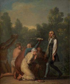 Niels Klim receives the Homage of the Quamites | Nicolai Abraham Abildgaard | Oil Painting