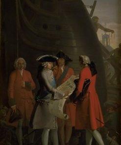The Construction of Copenhagen's Dock in the Reign of Christian VI | Nicolai Abraham Abildgaard | Oil Painting