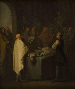 Niels Klim Attends the Sentencing of the Deceased Potuan Prince | Nicolai Abraham Abildgaard | Oil Painting