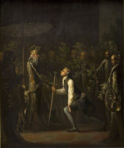 The Potuans are Surprised to See Niels Klim Kneel in Frnt of the Wise Prince | Nicolai Abraham Abildgaard | Oil Painting