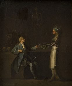 The Doctor's Wife Reveals Her Husband's Intention of Anatomising Niels Klim | Nicolai Abraham Abildgaard | Oil Painting