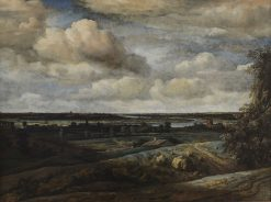 Panoramic Landscape with a River   Philips Koninck   Oil Painting