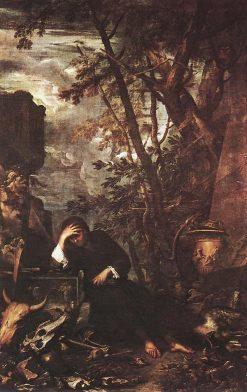 Democritus in Meditation | Salvator Rosa | Oil Painting