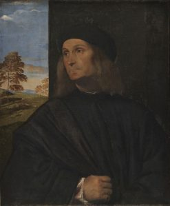 Portrait of the Venetian Painter Giovanni Bellini (?)   Titian   Oil Painting