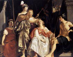 Minerva Crowns the Maid of Leiden | Abraham van den Tempel | Oil Painting