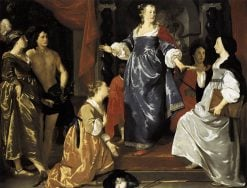 The Maid of Leiden Welcomes 'Nering' | Abraham van den Tempel | Oil Painting