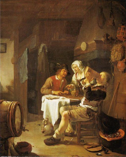 A Peasant Inn | Frans van Mieris the Elder | Oil Painting