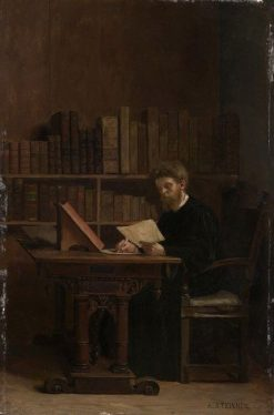 The Bibliophile | Adolphe Charles Edouard Steinheil | Oil Painting
