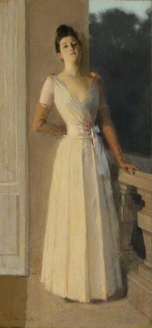 Portrait by Gaslight | Albert Lynch | Oil Painting