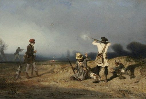 Bird Hunting | Alexandre Gabriel Decamps | Oil Painting