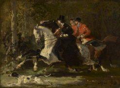 Equestrians | Alfred de Dreux | Oil Painting
