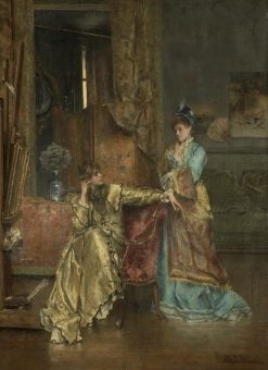 The Visit | Alfred Emile LEopold Stevens | Oil Painting