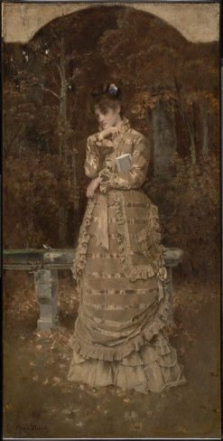 Fall   Alfred Emile LEopold Stevens   Oil Painting