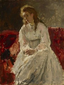 Woman in White | Alfred Emile LEopold Stevens | Oil Painting