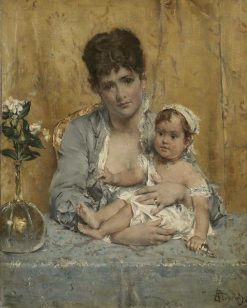 Mother and Child | Alfred Emile LEopold Stevens | Oil Painting