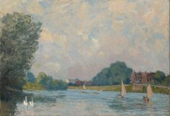 The Thames at Hampton Court | Alfred Sisley | Oil Painting