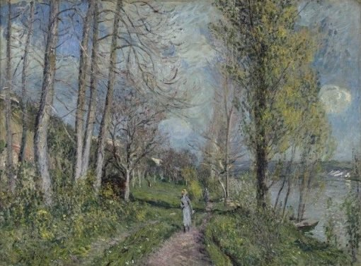 Banks of the Seine at By | Alfred Sisley | Oil Painting