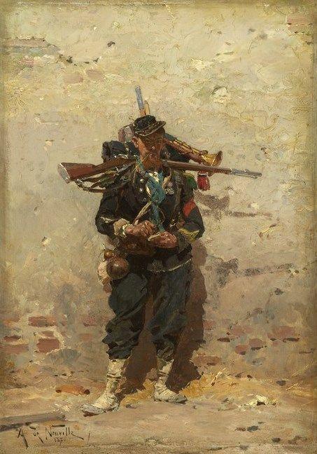 Bugler of the Light Infantry | Alphonse Marie Adolphe de Neuville | Oil Painting