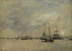 Harbor Scene | Antoine Vollon | Oil Painting