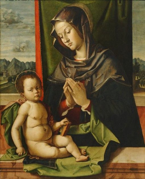 Virgin Adoring the Child | Bartolomeo Montagna | Oil Painting