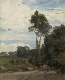 Lane to the Village | British School th Century   Unknown | Oil Painting
