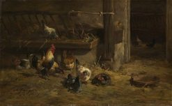 Poultry | Charles Emile Jacque | Oil Painting