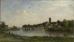 The Bridge between Persan and Beaumont-sur-Oise | Charles Francois Daubigny | Oil Painting