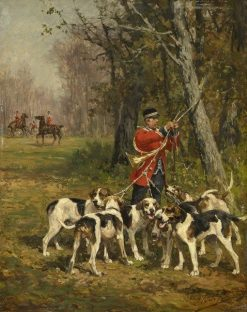 Hunting Hounds | Charles Olivier de Penne | Oil Painting