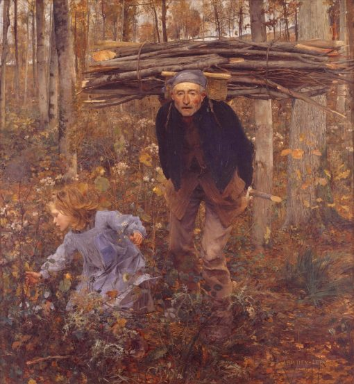The Wood Gatherer | Jules Bastien Lepage | Oil Painting