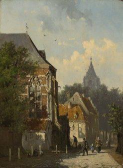 Dutch Street Scene | Cornelis Springer | Oil Painting