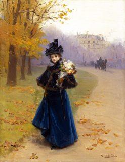 Woman in the Bois de Bolougne | Daniel Hernandez Morillo | Oil Painting