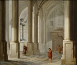 Church Interior with the Parable of the Pharisee and the Publican (Luke 18:9-14) | Dirck van Delen | Oil Painting