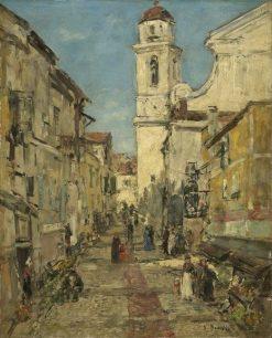 Villefranche   Eugene Louis Boudin   Oil Painting