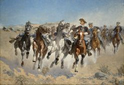 Dismounted: The Fourth Troopers Moving the Led Horses | Frederic Remington | Oil Painting