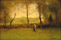 Wood Gatherers: An Autumn Afternoon | George Inness | Oil Painting