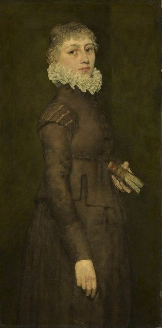 Woman with a Book | German School th Century Unknown | Oil Painting