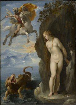 Perseus Rescuing Andromeda | Giuseppe Cesari | Oil Painting