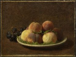 Peaches and Grapes | Henri Fantin Latour | Oil Painting